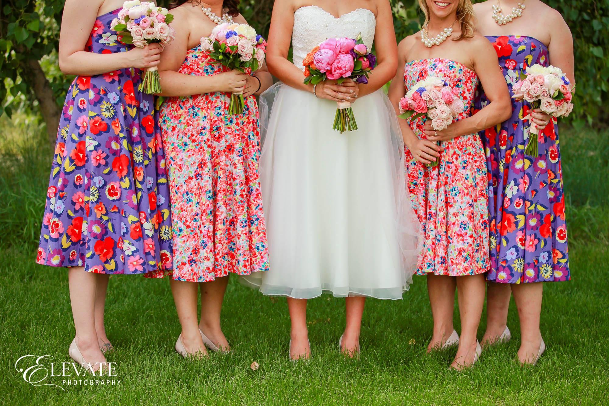multicolored bridesmaid dresses